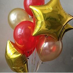 Набор шаров с золотой звездой