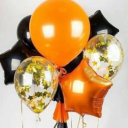Набор воздушных шаров с оранжевой звездой