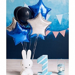 Набор фольгированных шаров с синей звездой