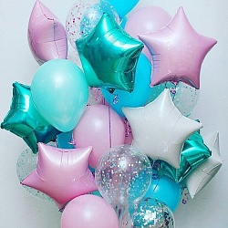 Набор фольгированных шаров с цветом тиффани