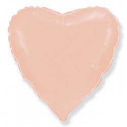 Шар фольгированный сердце цвета розовое золото