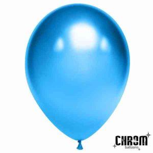 Шар латексный хром синий