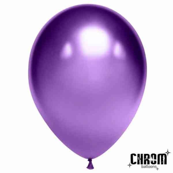 Шар латексный хром фиолетовый