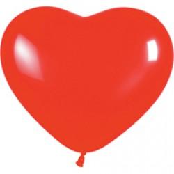 Латексный шар сердце красный