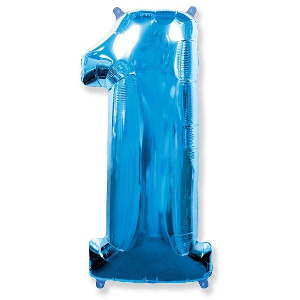 Шар-102-см-Цифра-1-Синий
