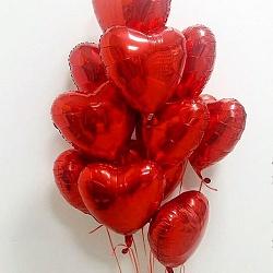 Набор шаров сердце красные