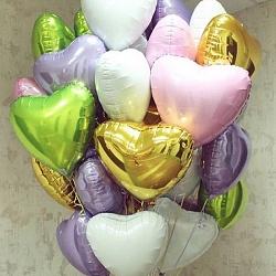 Набор шаров с сердцем цвета лайм