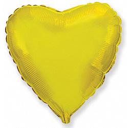 Шар фольгированный сердце цвета золото