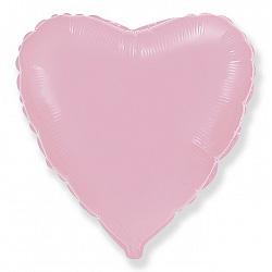 Шар фольгированный сердце цвета розовый