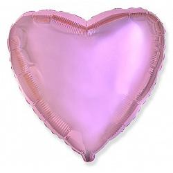 Шар фольгированный сердце цвета светло розовый