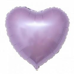 Шар фольгированный сердце цвета сиреневый
