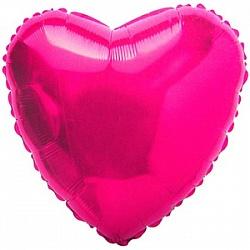 Шар фольгированный сердце цвета фуше