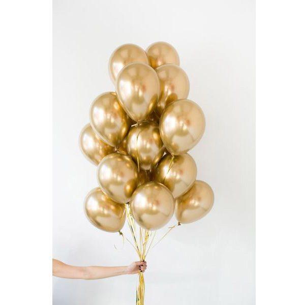 Воздушные шары золотой хром с доставкой в Новосибирске