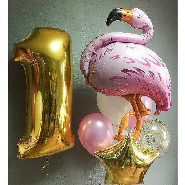 Композиция шаров с гелием на день рождения и детям