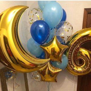 Микс подарочных шаров на день рождения
