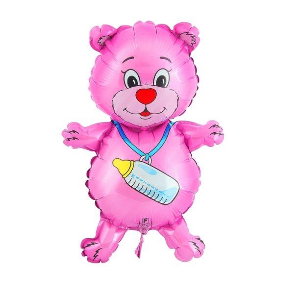 Фольгированный Шар Медвежонок девочка 81 см