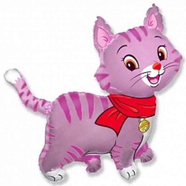 Фольгированный шар Мой милый котенок (розовый) 94 см