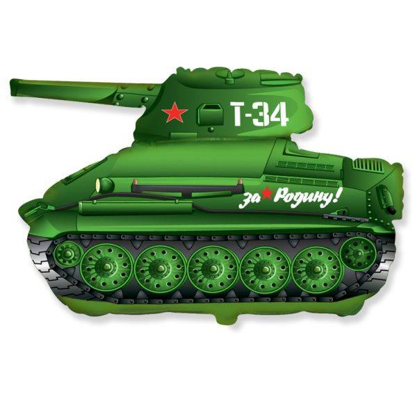 Фольгированный-шар-танк-Т34-зеленый