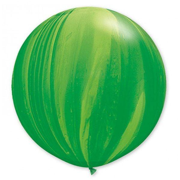 Шар-латексный-гигант-Агат-Green-76-см