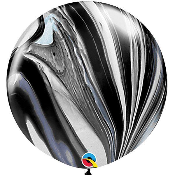 Шар-латексный-гигант-Агат-black-76-см