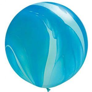 Шар-латексный-гигант-Агат-blue-76-см