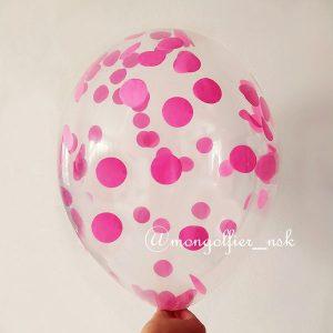 Шар-с-конфетти-круги-3см-розовый