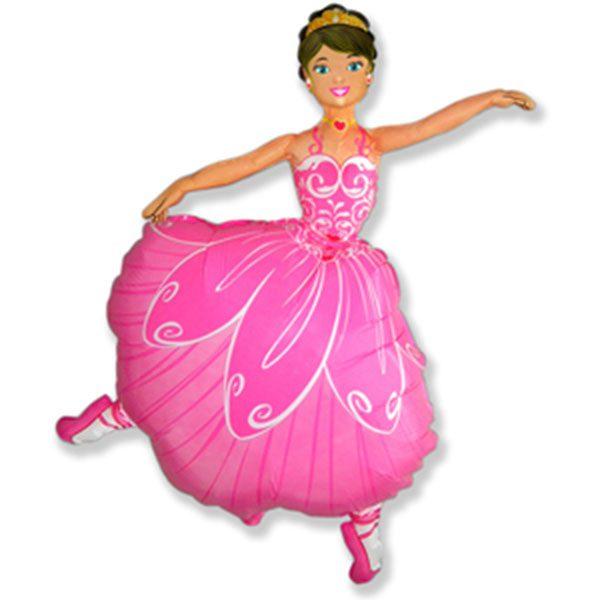 Фольгированный-шар-Балерина