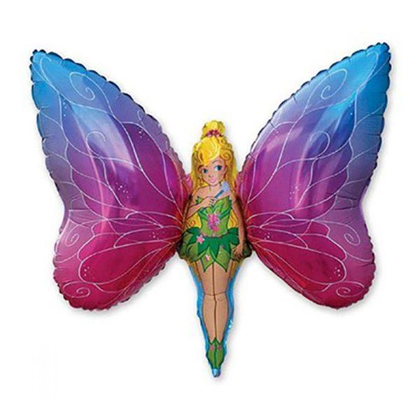 Фольгированный-шар-бабочка-девочка