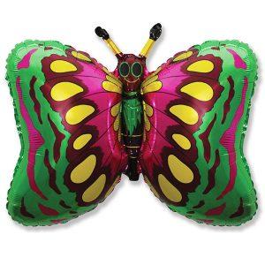 Фольгированный-шар-бабочка-зеленый