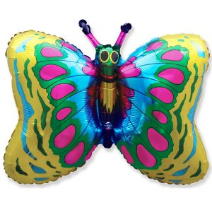 Фольгированный-шар-бабочка-золото