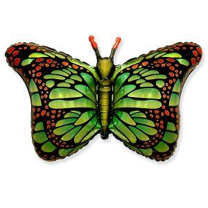Фольгированный-шар-бабочка-монарх-зеленый