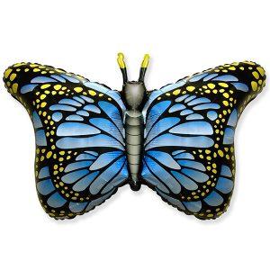 Фольгированный-шар-бабочка-монарх-синий