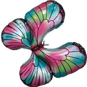воздушный шар розовая бабочка