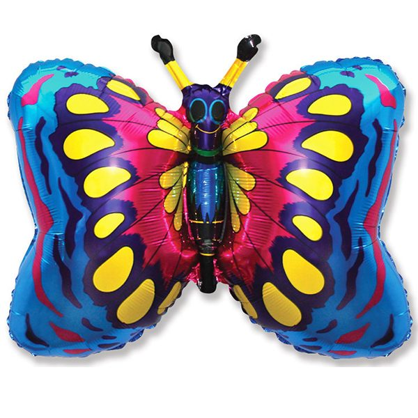 Фольгированный-шар-бабочка-синий