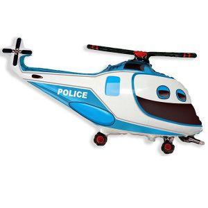 Фольгированный-шар-вертолет-полицейский