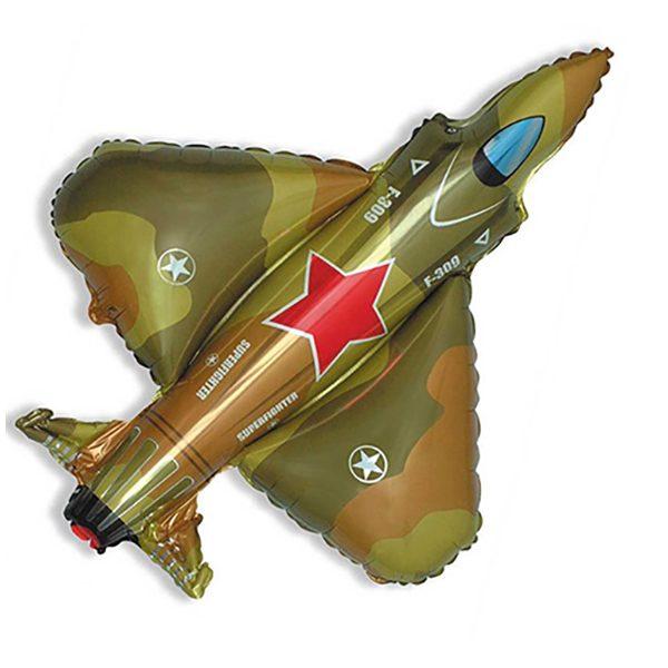 Фольгированный-шар-истребитель-военный