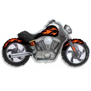 Фольгированный-шар-мотоцикл-черный
