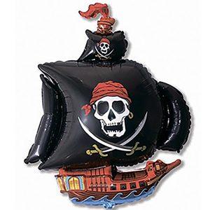 Фольгированный-шар-пиратский-корабль-черный