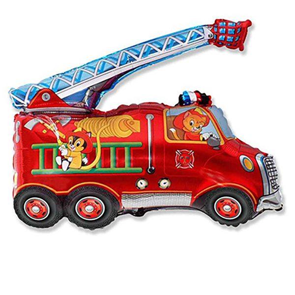 Фольгированный-шар-пожарная-машина