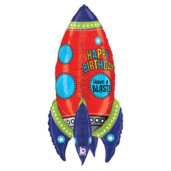 Фольгированный-шар-ракета-красный
