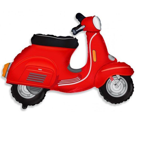 Фольгированный-шар-скутер-красный