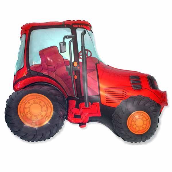 Фольгированный-шар-трактор-красный
