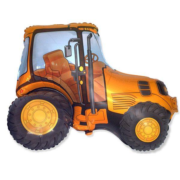 Фольгированный-шар-трактор-оранжевый