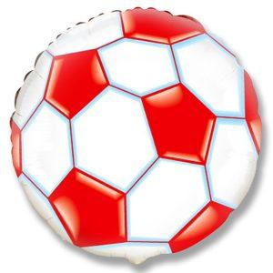 Фольгированный-шар-футбольный-мяч-красный