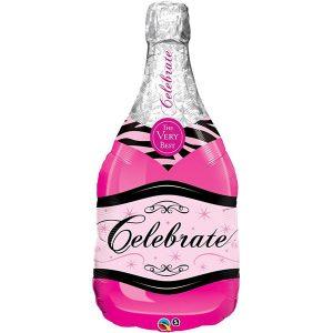 Фольгированный-шар-шампанское-розовое