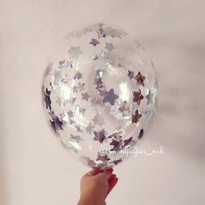 Шар-с-конфетти-звезда-2см-серебро