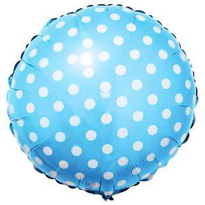 Фольгированный-шар-горох-голубой