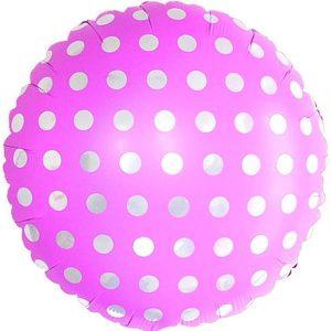 Фольгированный-шар-горох-розовый