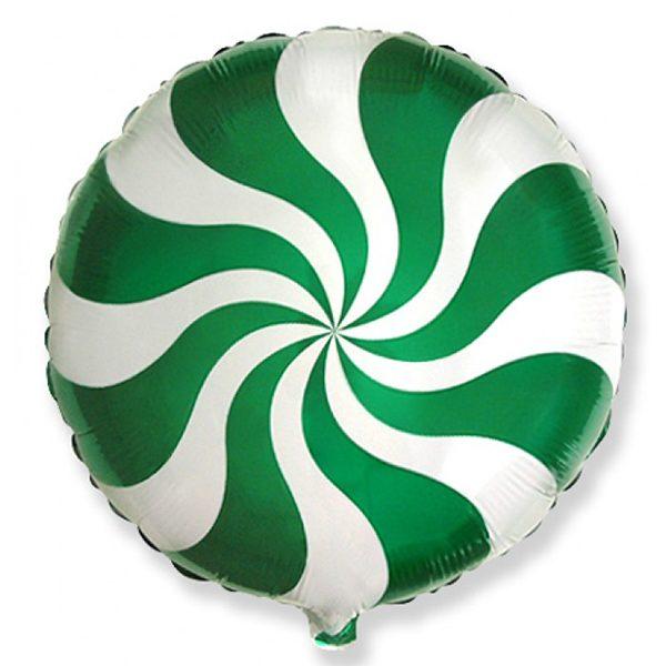 Фольгированный-шар-леденец-зеленый