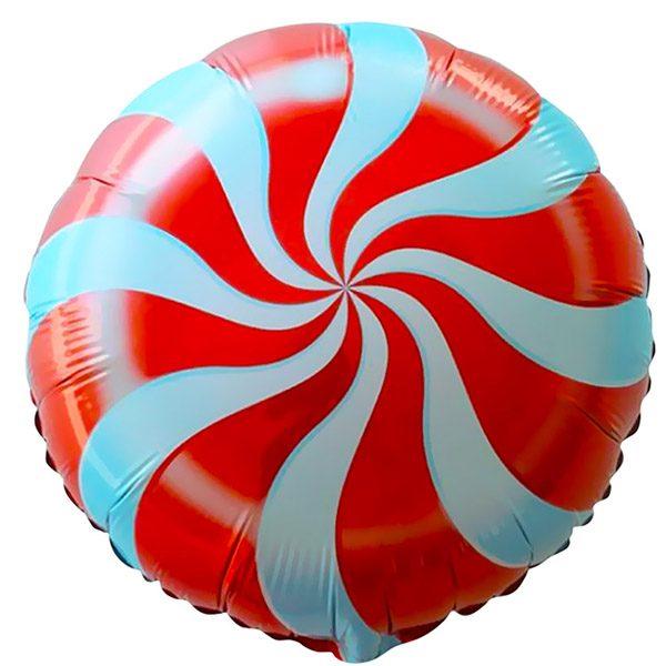 Фольгированный-шар-леденец-красный